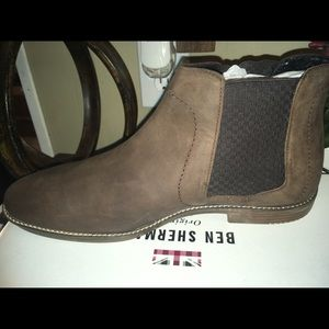 Ben Sherman - Men's Chelsea brown leather boot NWT